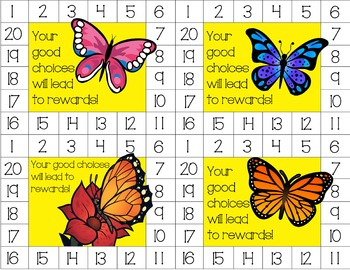 Butterflies Behavior Punch Cards