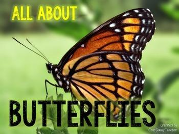 Butterflies! Close Read, Mini Book, & Printables about Mon
