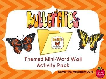 Butterflies Mini-Word Wall Activity Pack