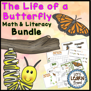 Butterfly Life Cycle Math and Literacy Activities Bundle