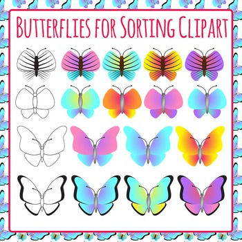 Butterflies for Sorting - Great for Inset Unit - Commercia