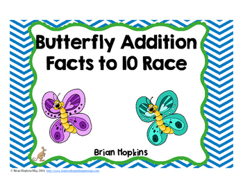 Butterfly Addition Facts to 10 Race