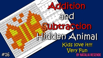 Butterfly - Addition and Subtraction Mystery Animal - Fun Math