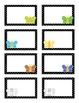 Butterfly Black Polka Dot Theme Blank Labels