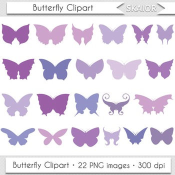 Butterfly Clip Art Silhouette Violet Insect Butterfly Wing