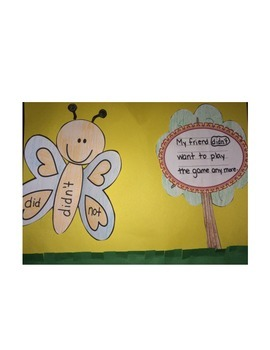 Butterfly Contractions Craftivity and Game