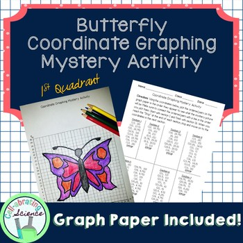 Butterfly Coordinate Graphing Mystery Activity