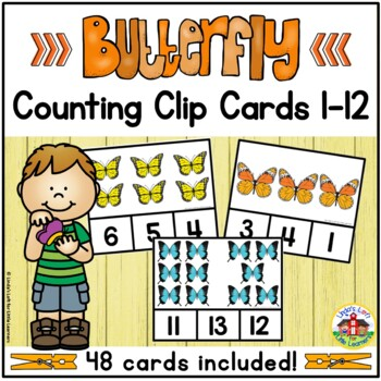 Butterfly Counting Clip Cards 1-10