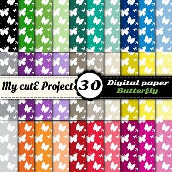 Butterfly - DIGITAL PAPER - Instant Download - Scrapbookin