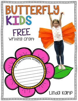 Butterfly Kids Writing Craft