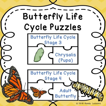 Life Cycle of a Butterfly Activity Puzzles