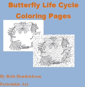 Butterfly Life Cycle Coloring Page