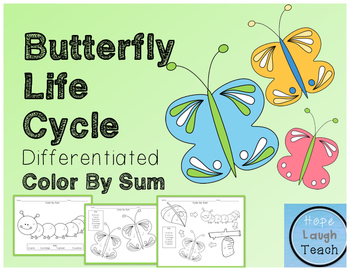 Butterfly Life Cycle Differentiated Color By Sum