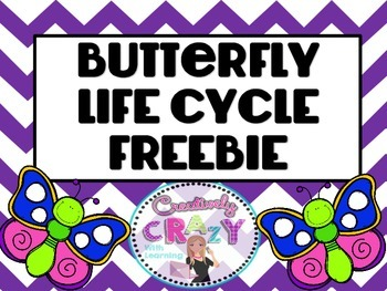 Butterfly Life Cycle Freebie from Creatively Crazy With Learning