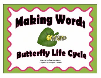 Butterfly Life Cycle Making Words Activity