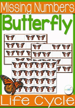 Butterfly Life-Cycle Missing Numbers 1-20