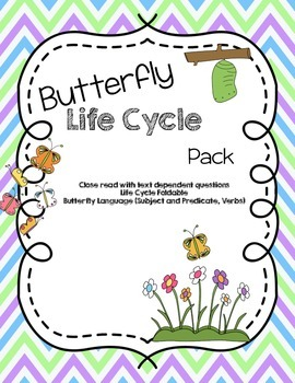 Butterfly Life Cycle Pack: Close Read, Questions, Foldable