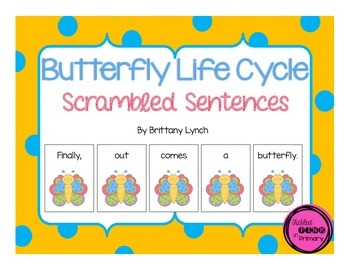 Butterfly Life Cycle Scrambled Sentences
