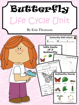 Butterfly Life Cycle Unit ~ Literacy and Science Activities