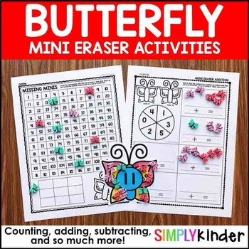 Butterfly Mini Eraser Activities