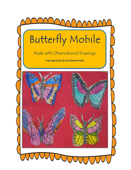Butterfly Mobile with Observational Drawings