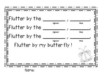 Butterfly Poem (Parts of Speech)