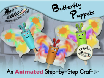 Butterfly Puppets - Animated Step-by-Step Craft