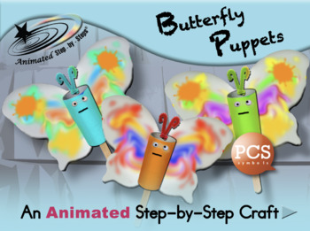 Butterfly Puppets - Animated Step-by-Step Craft PCS