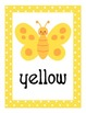 Butterfly Theme Polka Dot Color Name Posters