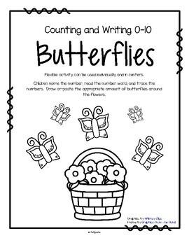 BUTTERFLIES Counting and Tracing Numbers 0-10