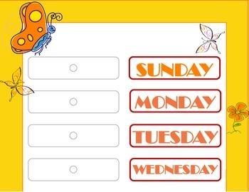 Butterfly Theme Weekday Chart! Butterfly Bulletin Board! D
