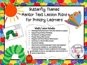 Butterfly Themed Mentor Text Lesson Plans With The Very Hu