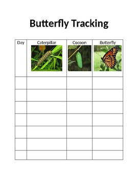 Butterfly Tracking Sheet