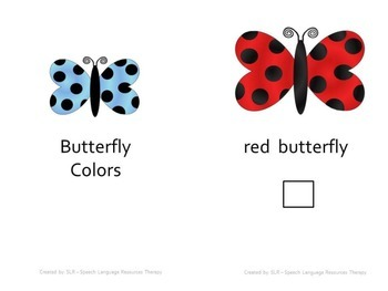 Butterfly colors adapted book and printable mini-book