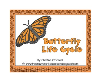 Butterfly life cycle anchor chart freebie!