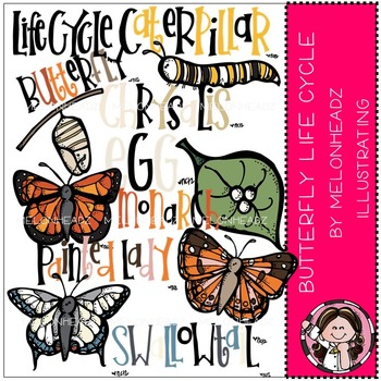 Melonheadz: Butterfly life cycle clip art - COMBO PACK