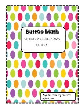 Button Sorting Math Worksheet