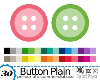 Button clipart  - Clipart - 30 PNG files - Scrapbooking cl