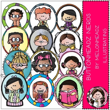 Melonheadz: Buttonheadz Nerds clip art - COMBO PACK