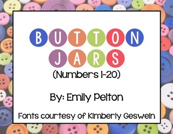 Button Jars (Numbers 1-20)
