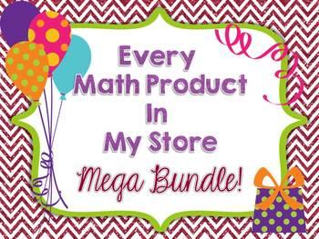 All My Math Products Mega Bundle