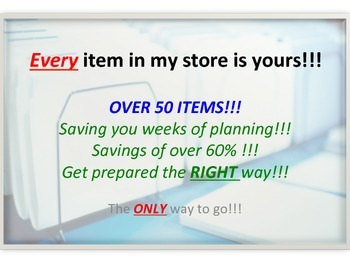Buy everything in my History and Social Studies Store!!