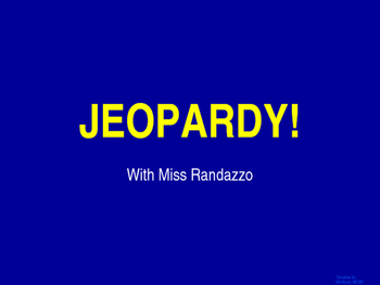 Buyers and Sellers Jeopardy