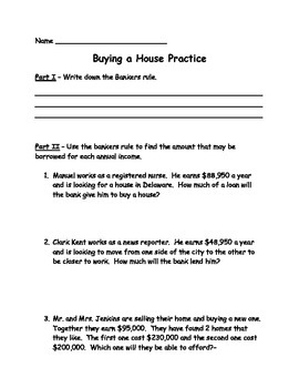 Buying a Home Assessment (Test)