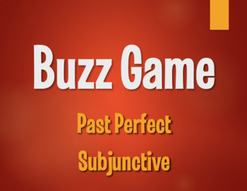 Spanish Past Perfect Subjunctive Buzz Game
