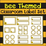 Bee Themed Classroom Label Set {Editable}