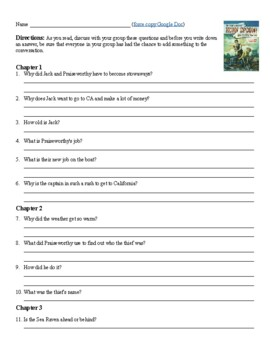 By the Great Horn Spoon Novel Study Questions