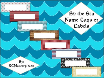 By the Sea Name Tags and Labels