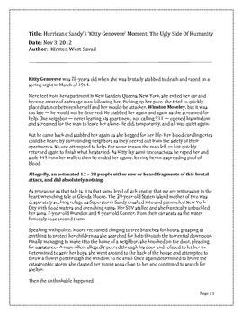 Bystander Effect Articles
