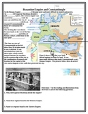 Byzantine Empire reading and map